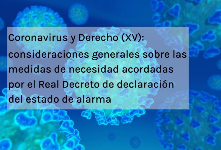 Coronavirus y Derecho XV
