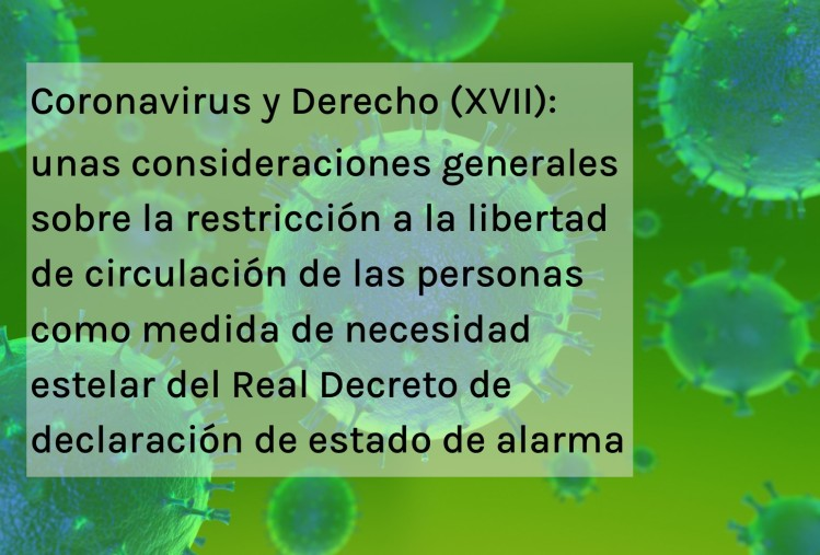 Coronavirus y Derecho XVII