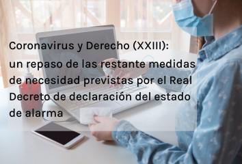 Coronavirus y Derecho XXIII