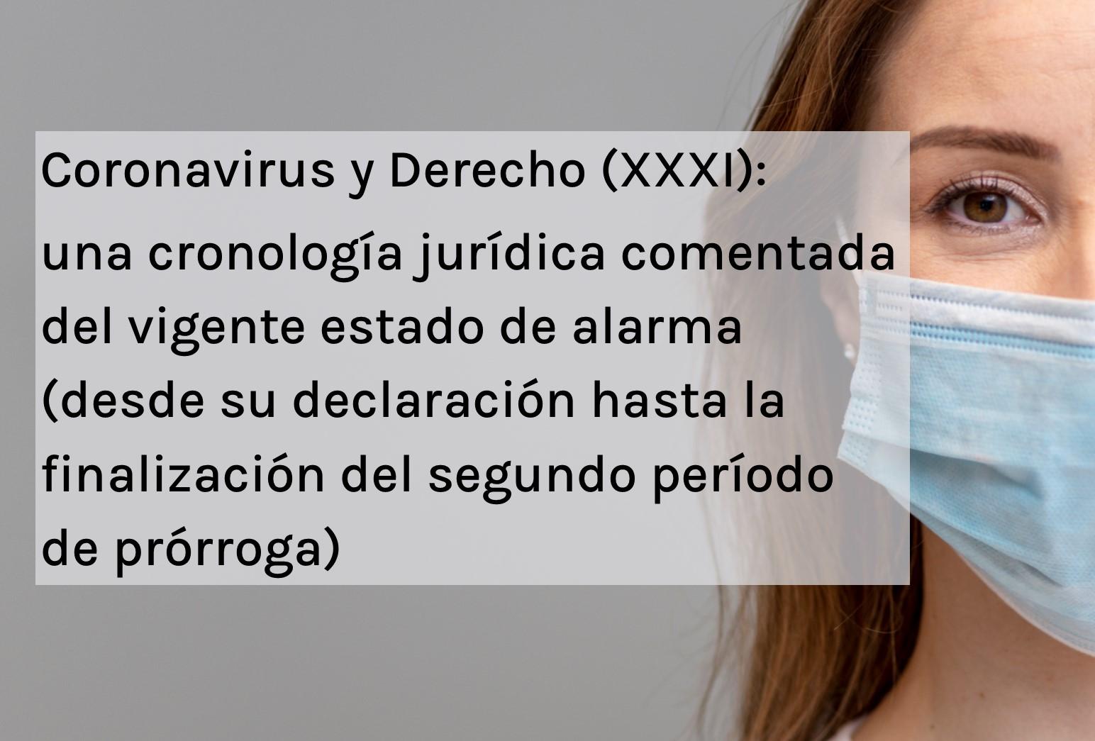 Covid y derecho XXXI